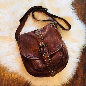 •Patricia Nash• Barcelona Leather Studded Bag